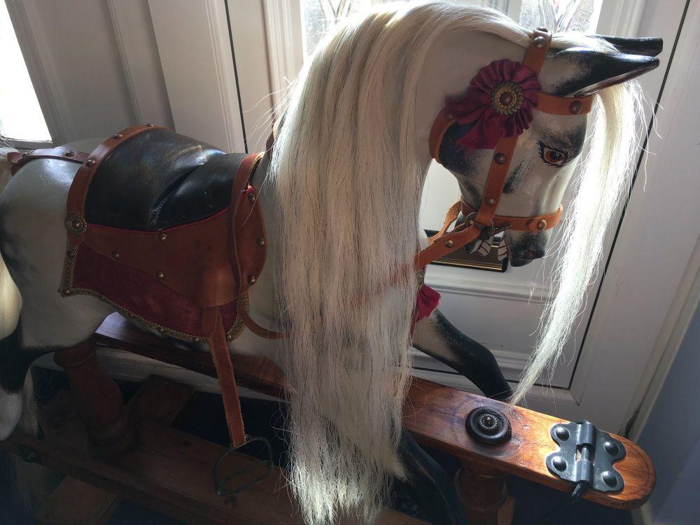 Benjamin FH Ayres Rocking Horse Restored 37ins