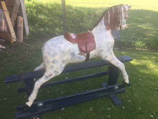 TLC Vintage Rocking Horse Needing Restore 44in