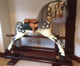 'Mac' Large Rocking Horse Hand Carved Child Ready
