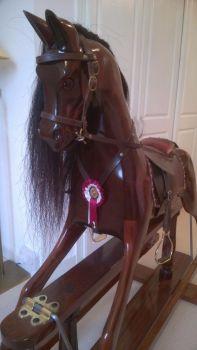 Mahogany Rocking Horse 46in Joe