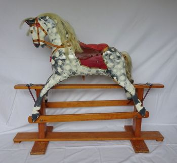 Collinson 'Dapple Grey' 36in Original Paint Rocking Horse