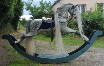 Paul Leach Bow Rocking Horse Fully Restored