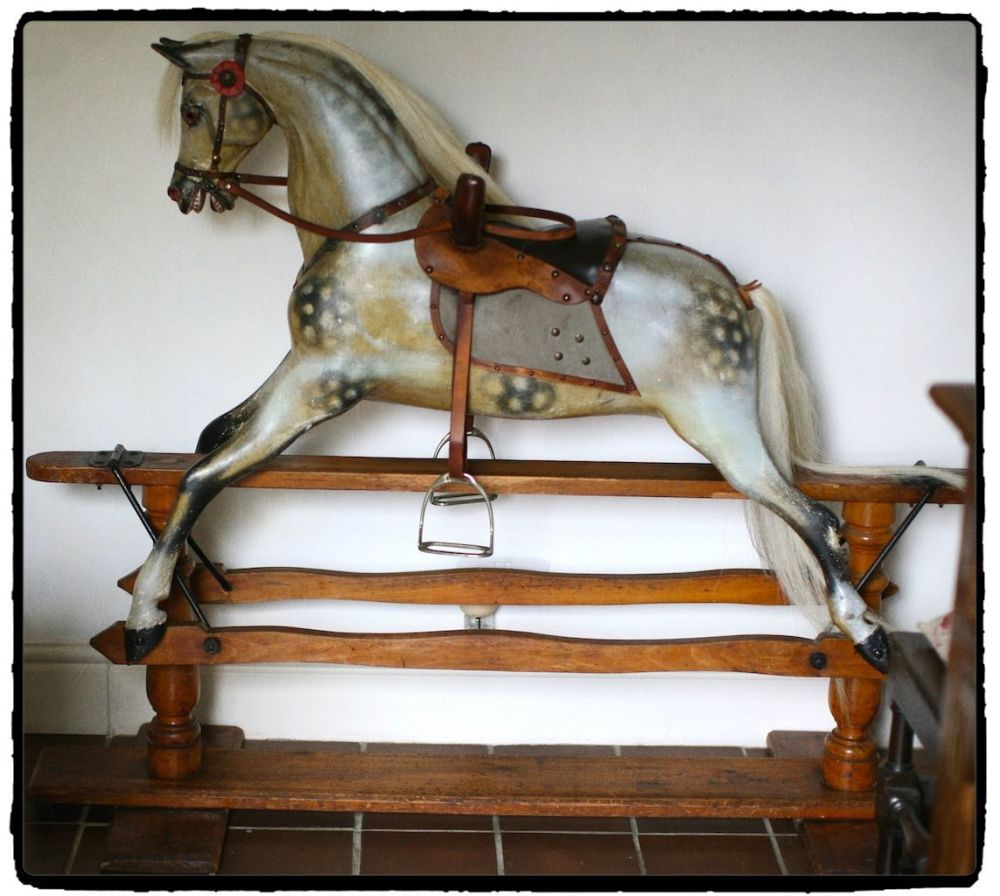 Paul Leach London Antique Rocking Horse 1890