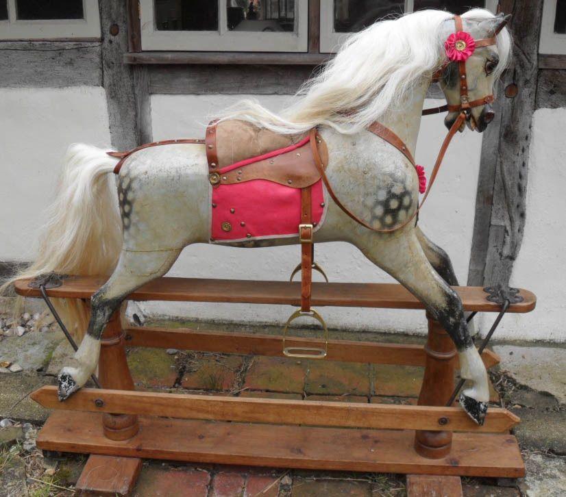 D'Artagnan Antique Ayres Rocking Horse 45in Original Paint