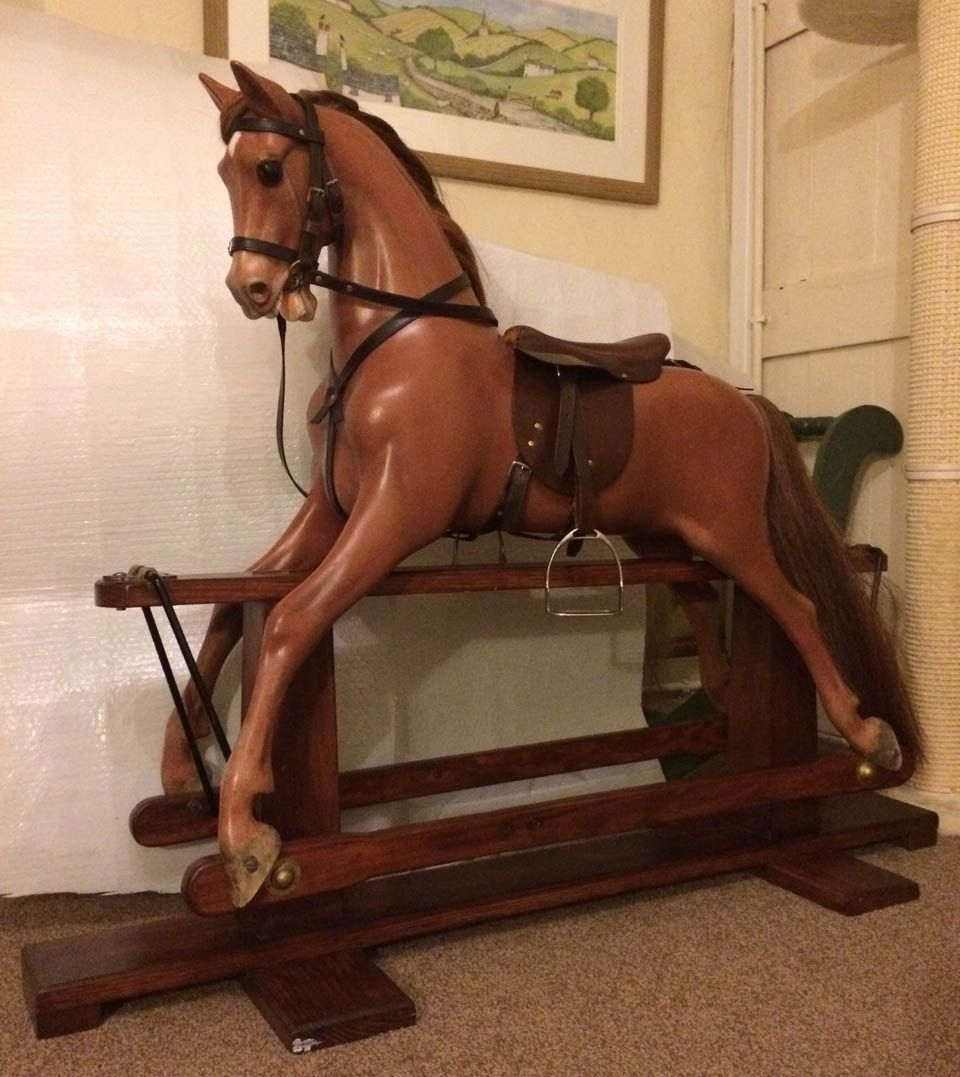 Haddon Chestnut Star - Chestnut Coloured Rocking Horse
