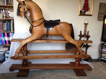 Rocky Stevenson XL 56in Oak Rocking Horse Special Spec