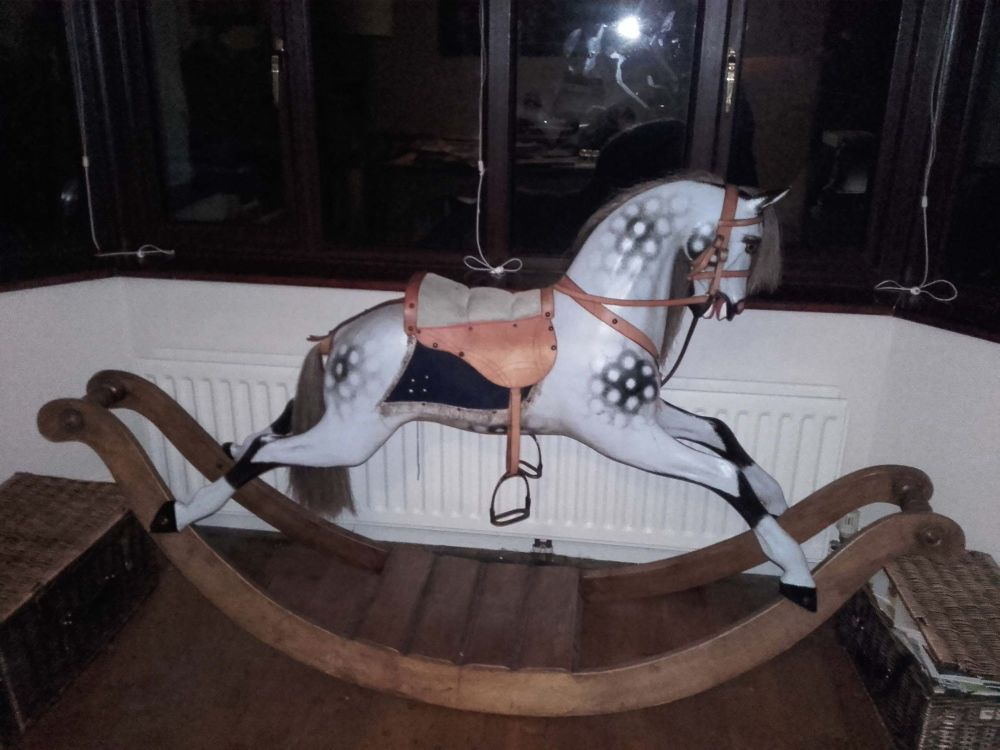 Stevenson Bow Rocking Horse Dapple