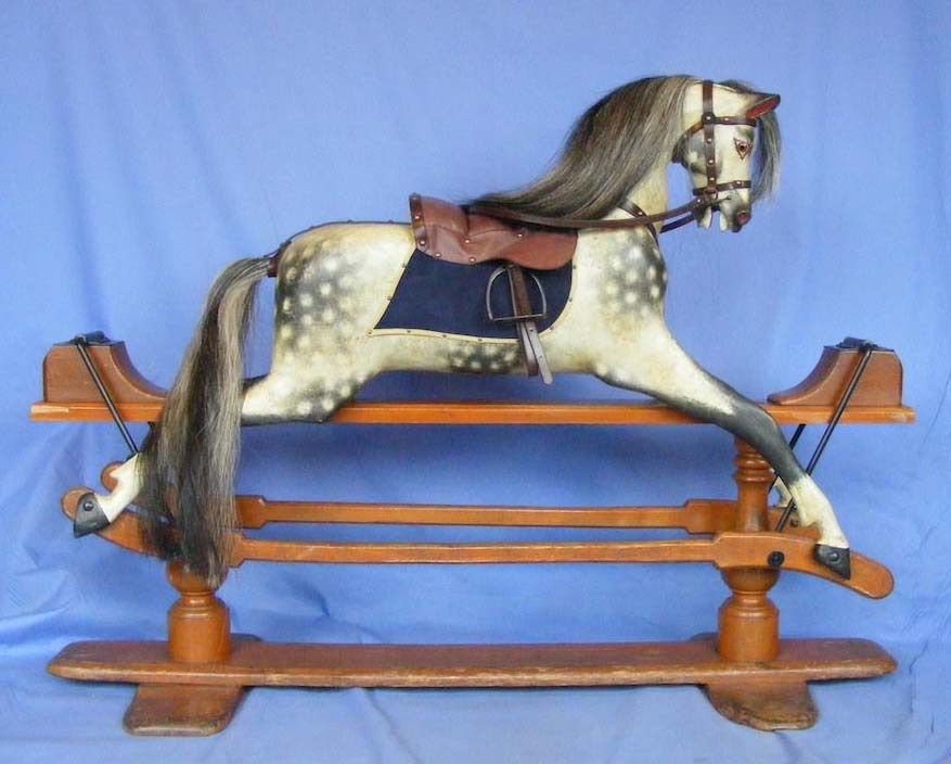 Pollyanna 1880 G and J Lines Rocking Horse 42in