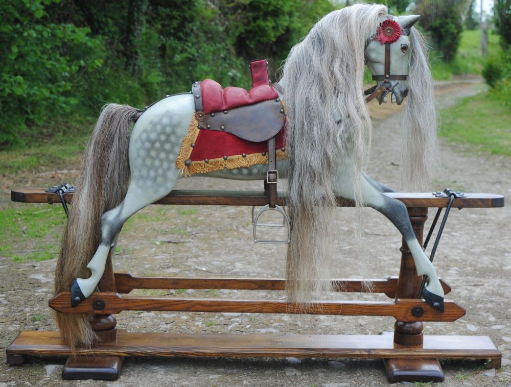 Mozart Early Extra Carved Ayres Rocking Horse 37in