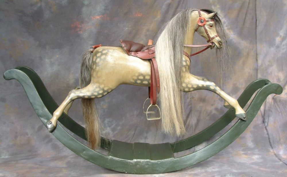 Phoenix By Lucky Chance C1840 bow Rocking Horse Restored