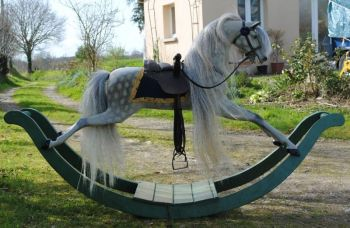 Mayfair Georgian Early Victorian Bow Rocking Horse