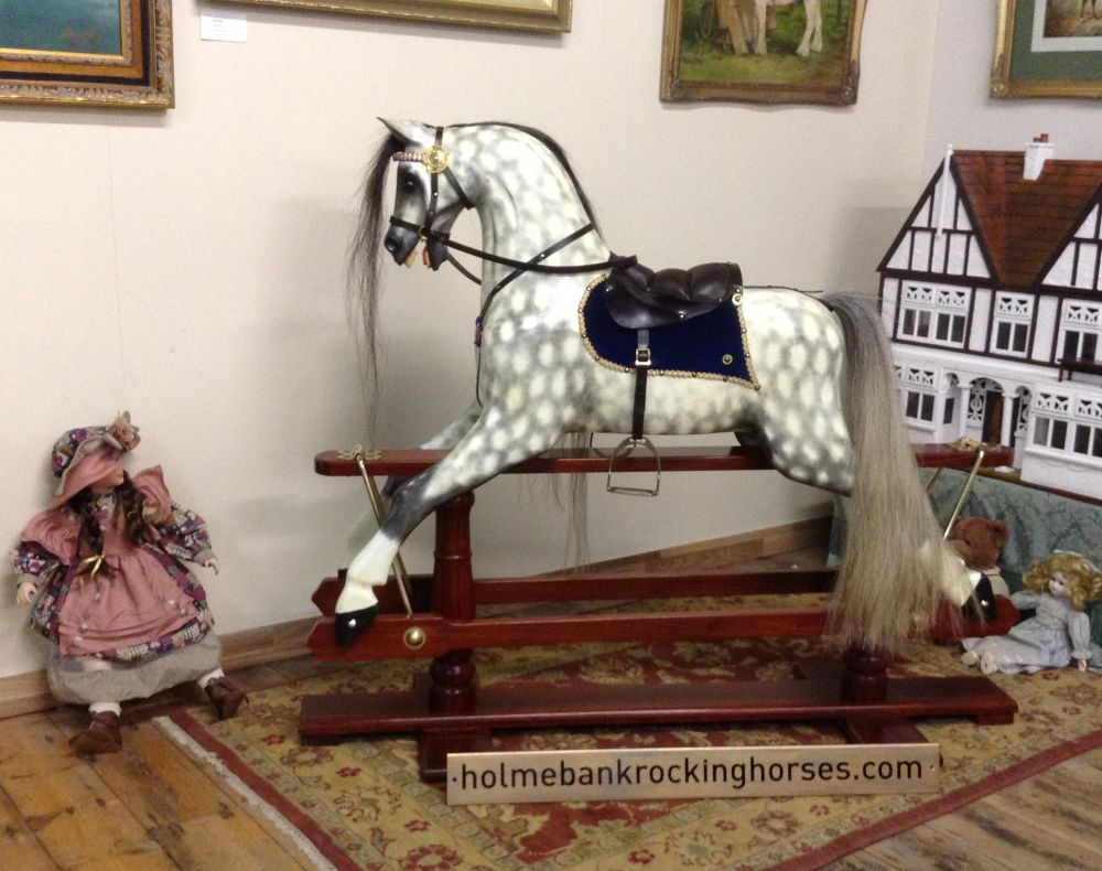 48in Victorian Style Horse Painted By Artist David Vine
