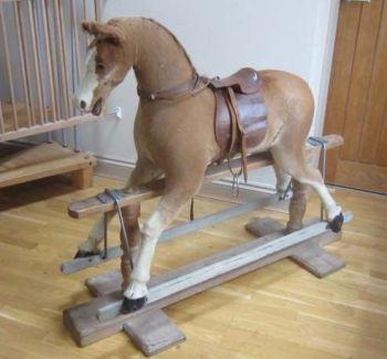 Antique Ponyskin Horse Rare