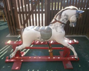 Haddon Rocking Horse large on Red Stand