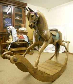 Stevenson Bow Rocking Horse Solid Oak