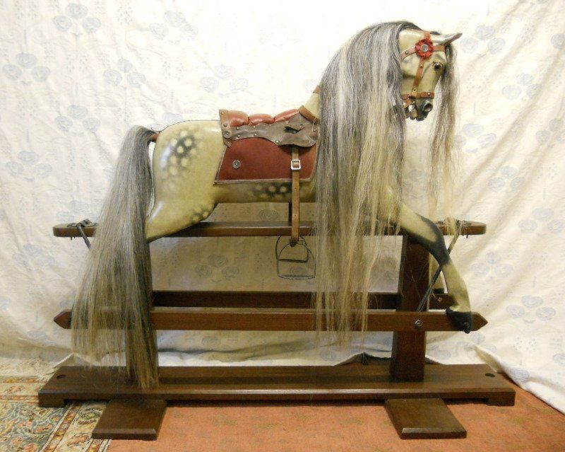 Antique Rocking horse 48in Unknown Maker