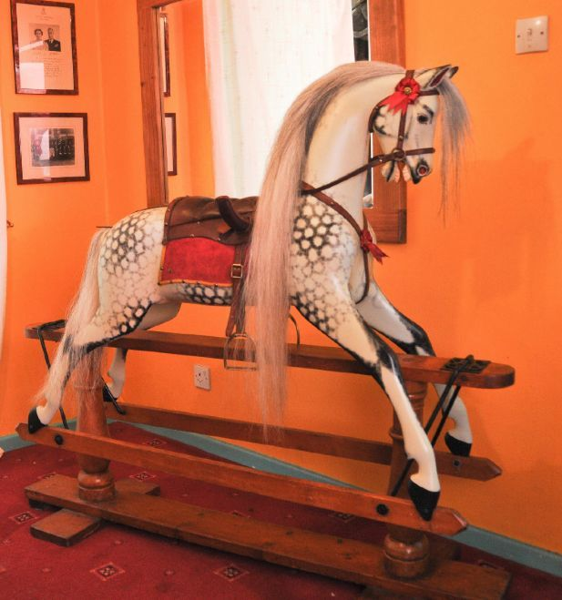 Ayres 52in Plain Carved Rocking Horses