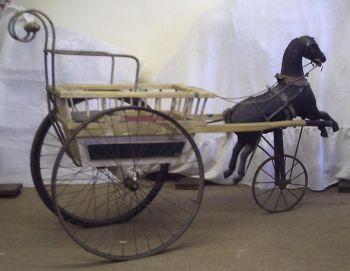 Antique Horse & Gig Set RARE