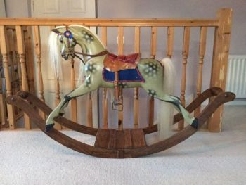 G&J Lines Ex Carved Bow Rocking Horse Willow 1910
