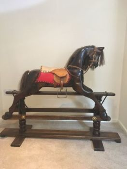 Brownie Hand Crafted Rocking Horse 40in