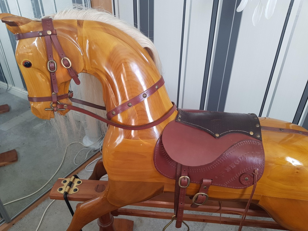 Hand Crafted Large 50in Rocking Horse by Ken Shawley