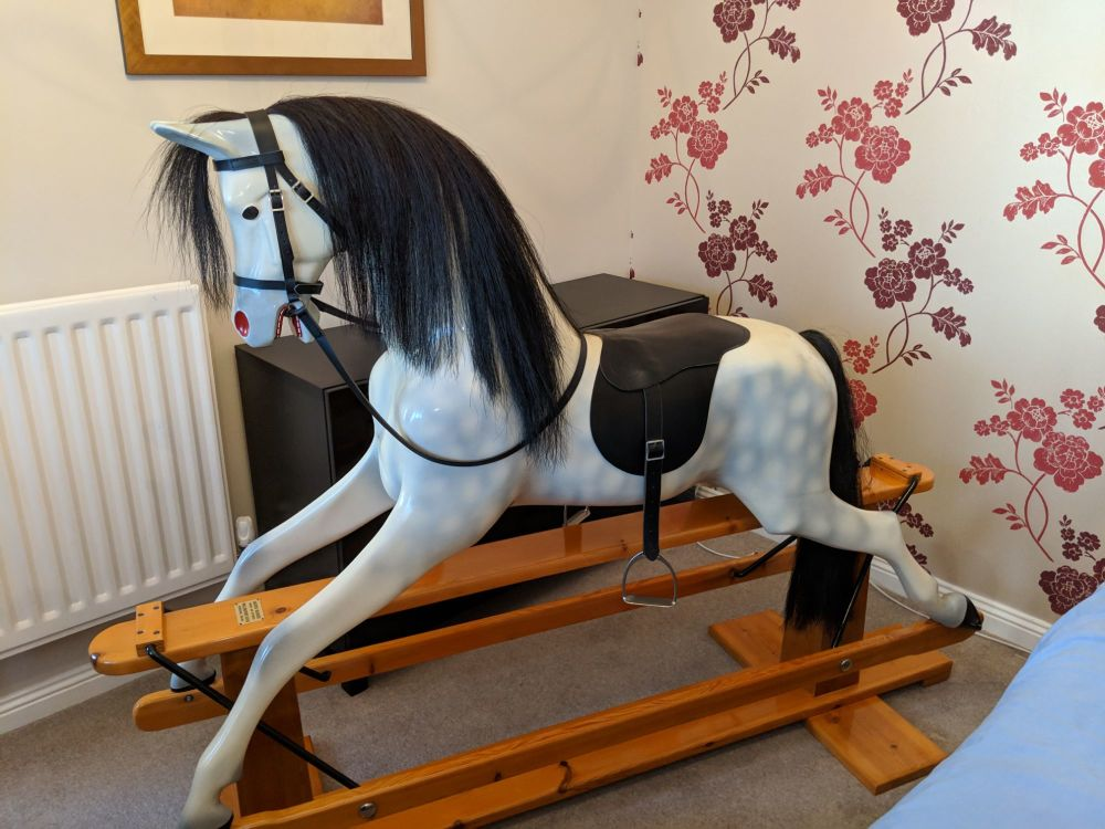 Haddon Rocking Horse Large Dapple Grey 1976 restored by Haddon immaculate