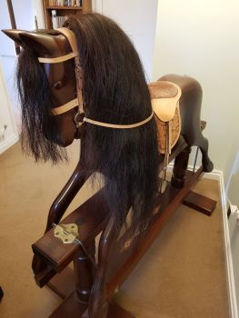 Mahogany Rocking Horse by Kings Horses 48in