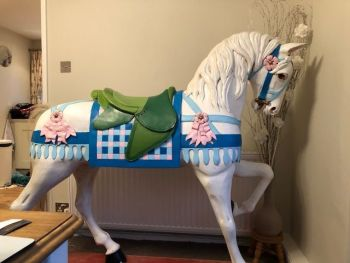 Carousel Horse on Plinth hand carved ex large 54in tall