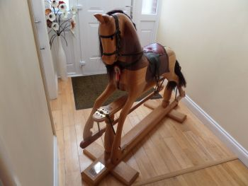 Barney Hand Crafted 49in Rocking Horse