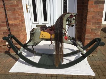 FH Ayres Bow Rocker 1919 restored with a pommel  SOLD