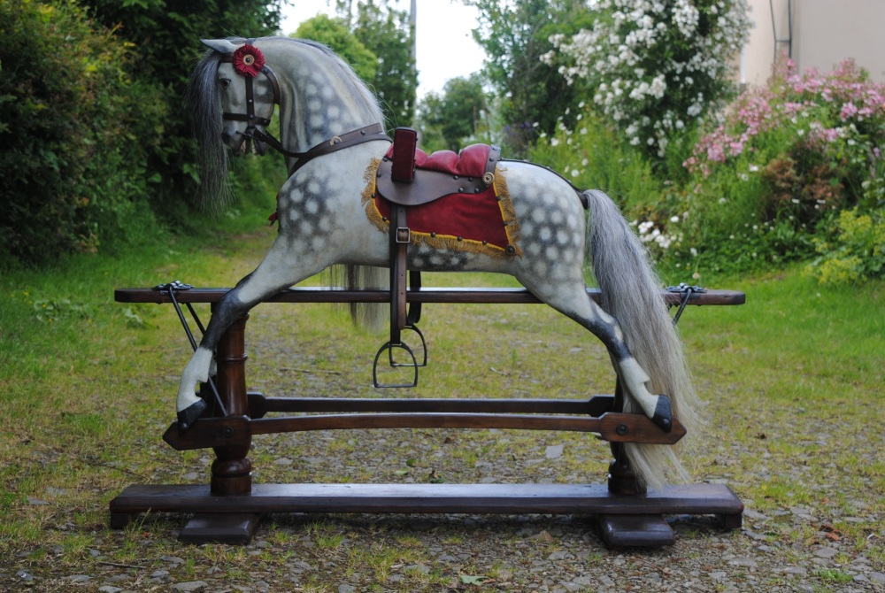 Trooper Extra Carved FH Ayres Rocking Horse