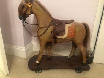 HORSE ON WHEELS NATURAL RESTORE PIPPA KIRBY ANIMAL ARTIST LIFELIKE 32in