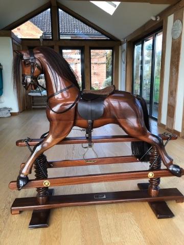 HORSECRAFT HAND CARVED GEOFF MARTIN RARE 47IN