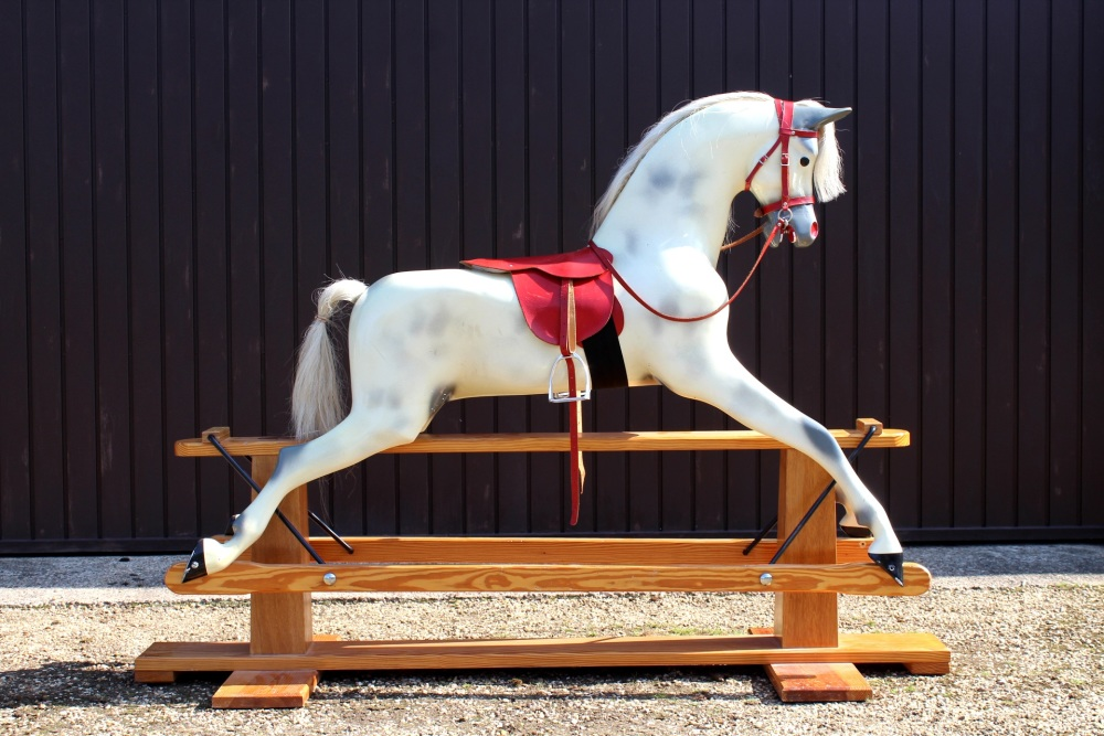 Haddon Large 50in Rocking Horse RED SADDLE ex condition