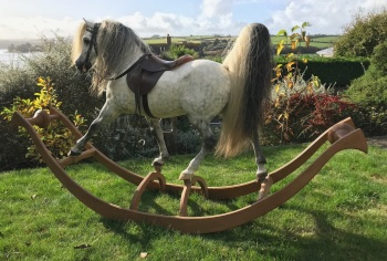 """Amyra (""""Princess"""") Arab Horse bow rocking horse by A.P.E.S rare limited edition 47in tall"""