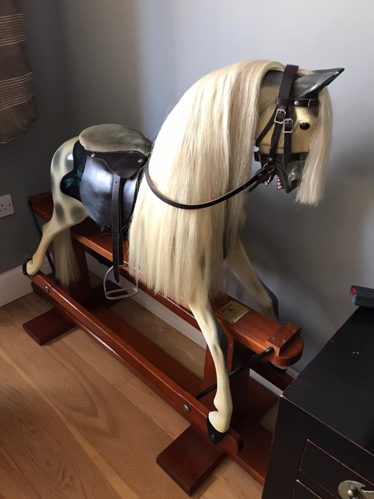 Haddon Original with Dark Wood Stand Rocking Horse
