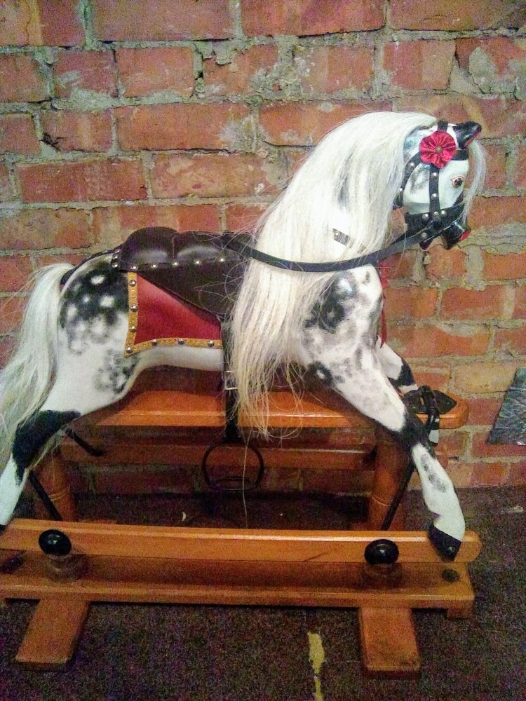 LINES SPORTIBOY 1 (SP1) ROCKING HORSE 1920s  34IN RESTORED
