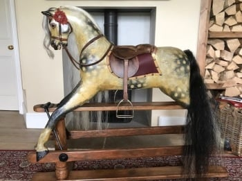 LINES BROS SPORTIBOY ROCKING HORSE SIZE 3 - 44in tall 1920s/30s