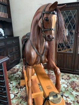 Harold Wakefield Bespoke Carved 41.5in tall galloping