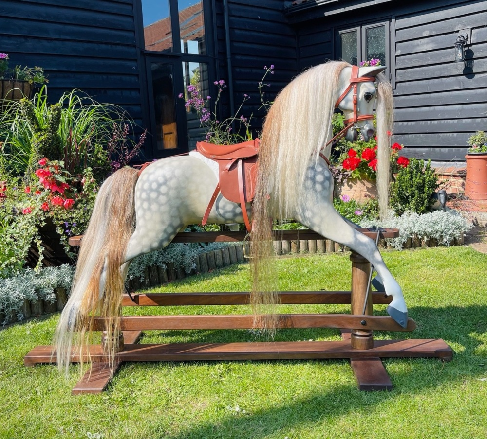MR DARCY 50in FULLY RESTORED TROJAN ROCKING HORSE EXTRA LARGE