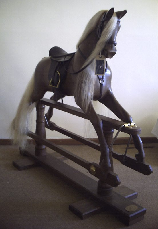 Sir Lancelot Beautiful Oak Mayfield Rocking Horse Flaxen Mane & Tail