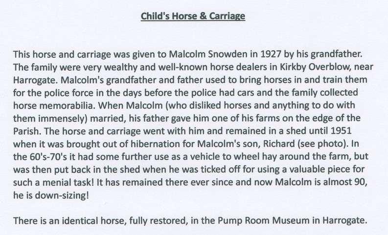 Horse & Gig provenance