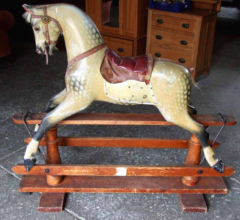untouched original condition extra large f h ayres rocking horse