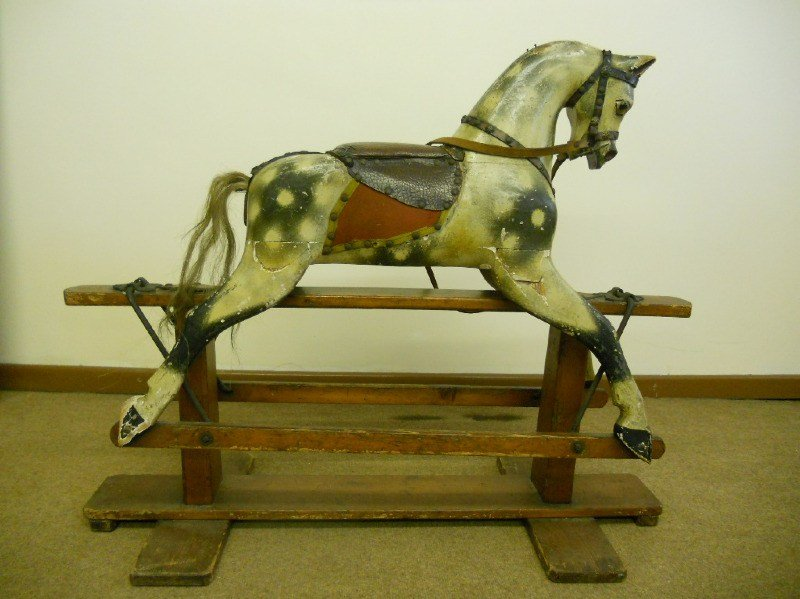 baby carriages rocking horse original paintwork-1
