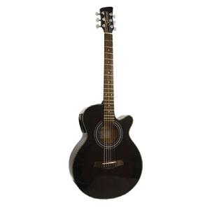 Brunswick cutaway electroacoustic folk style guitar Black