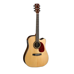 Cort MR710 SE Electro Acoustic stripped ebony backside