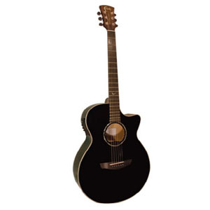 Faith Venus Eclipse EQ cutaway Acoustic guitar (Black) FECV