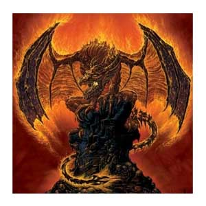 Harbinger of Fire Dragon T-shirt Adult