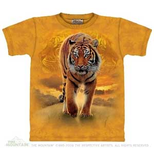 Rising Sun Tiger T-shirt Adult