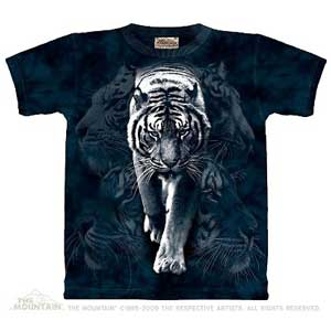 White Tiger Stalk T-shirt Adult